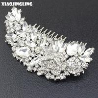 XIAOJINGLING Luxury Big Crystal Hair Comb Charm Fashion Women Lady Hair Clip Trendy Prom Bridal Wedding
