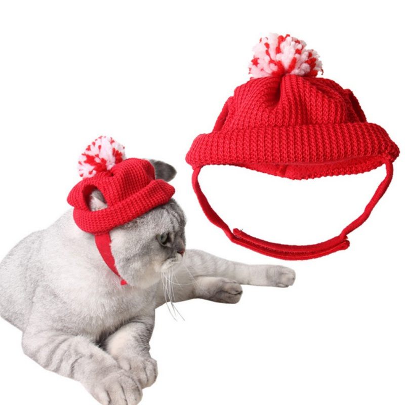 Dog Cat Hat Teddy Puppy Christmas Hat Factory Christmas Day Red Kitten Hat Earrings Dog Hat Pet Cat And Dogs Supplies Red Tq