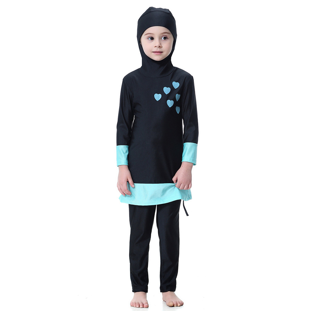 Outfit Swimsuit Long-Sleeve Bathing Children's-Sets Baby-Girls Kids Summer 2PCS