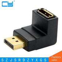 DisplayPort Down Angled 90 Degree Male To Female Extension Adapter For PC Graphics Card Monitor