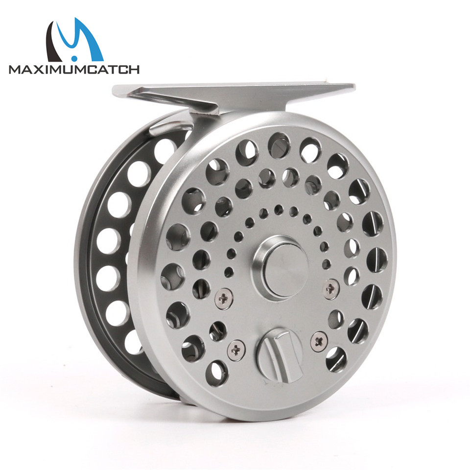 Maximumcatch CDB 2/3/4WT New Clicker and Pawl Trout Fly Reel Silver Aluminum Classic Trout Fly Fishing Reel цены онлайн