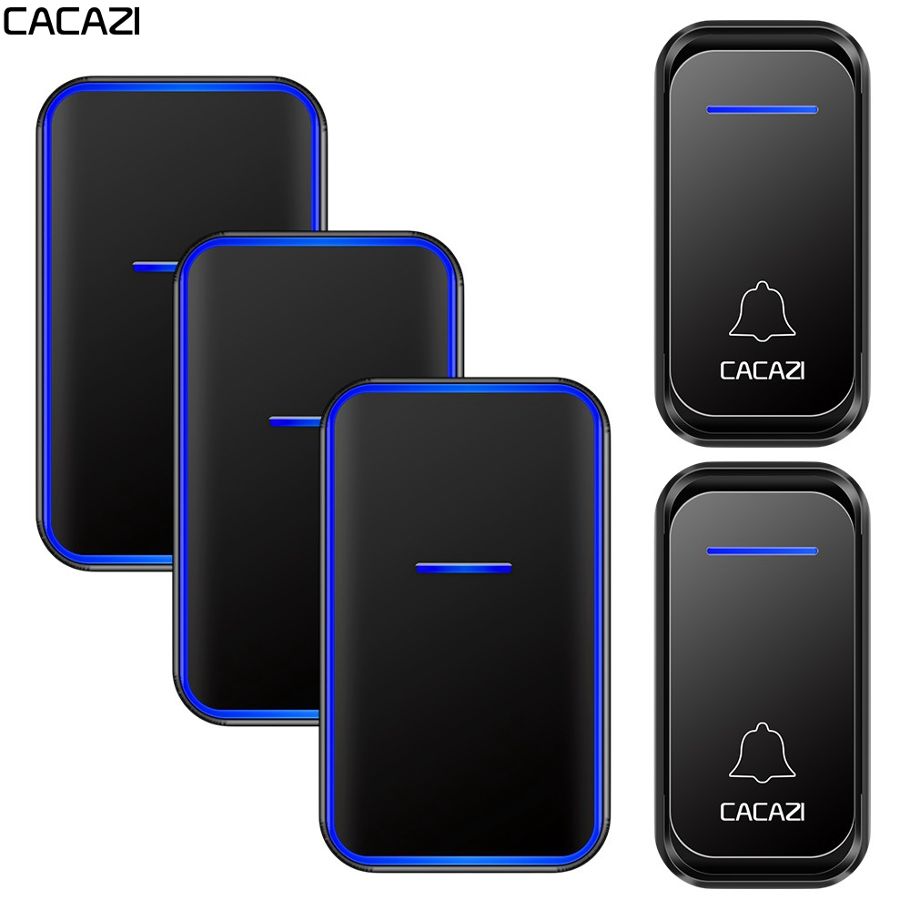 CACAZI Wireless Doorbell Waterproof 2 Button 2 Receiver US EU UK AU Plug 300M Remote Home Welcome Calling Door Bell Chime in Doorbells from Home Improvement