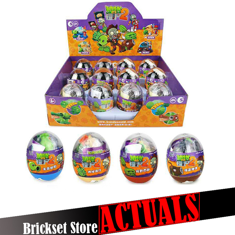 4pcs/lot Plants vs Zombies Twist model Building Bricks Blocks anime action figures My world Minecraft Toys for children gifts new arrival plants vs zombies plush toys 30cm pvz zombies soft stuffed toy doll game figure statue for children gifts party toys