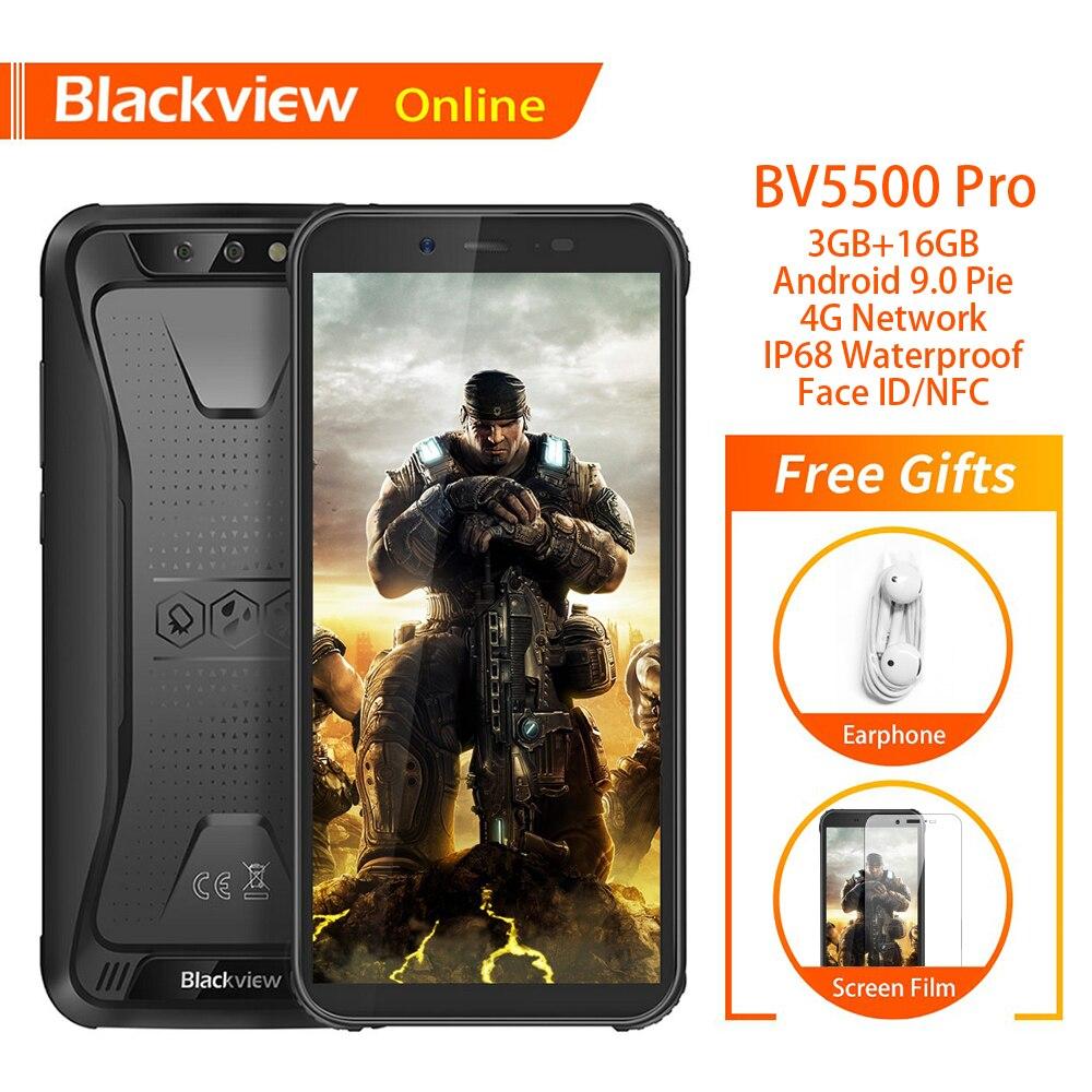 "Blackview BV5500 Pro Original IP68 Waterproof 5.5"" Rugged Smartphone 3GB+16GB 4400mAh Android 9.0 Pie 4G Shockproof Mobile Phone"