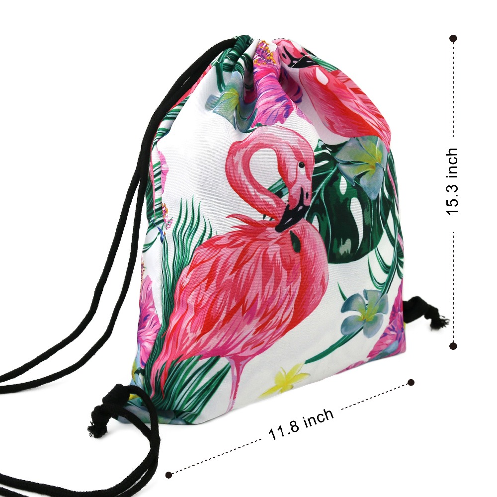 5daa093b5997 Cozfay Dropshipping 3D Printing Drawstring Backpack WaterProof Gym Sack  Goodie Bag Fashion Casual Bag for Kids Grils Gifts