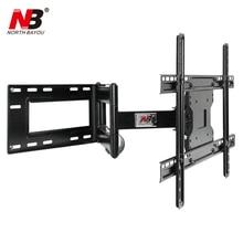 NB SP2 Heavy Duty 40-70 Flat Panel LED LCD TV Wall Mount Full Motion Ultra Long Arm Swivel 180 Degree Distance 110-712mm