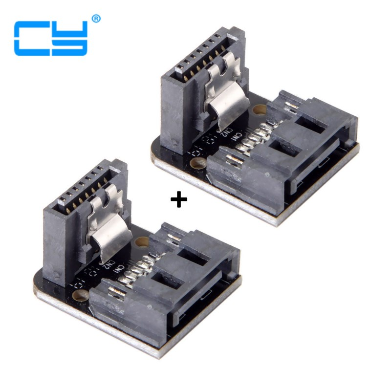 SATA 7Pin Female To 7pin Male 90 Degree Angled Adapter Mainboard Motherboard For Desktops SSD HDD