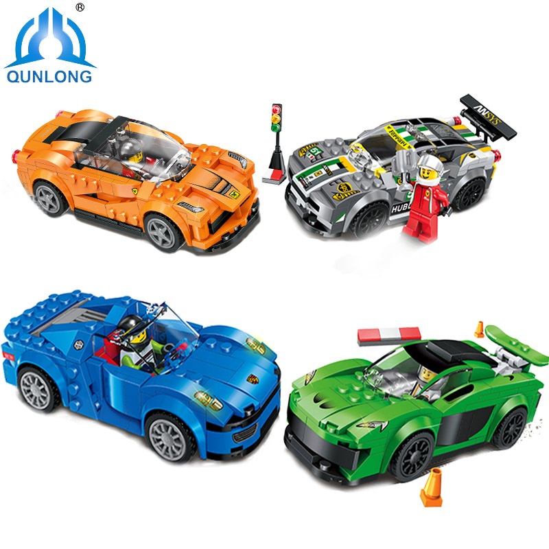 Minecraft Racing Car Model Building Blocks Set Educational DIY Bricks Figures Toys For Children Compatible Legoe City Technic new 4pcs set minecraft sword espada models figures my world building blocks model set figures compatible toys for kids