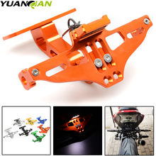 Motorcycle Adjustable Angle License Number Plate Frame Holder Bracket for KTM Yamaha Tmax 500 530 XJR 400 1300 KTM Duke 390 125(China)