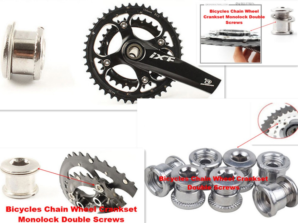 BMX 3 PC CRANKS Chain wheel Sprocket CHAIN RING CRANK ATTACH BOLTS BOLT NEW