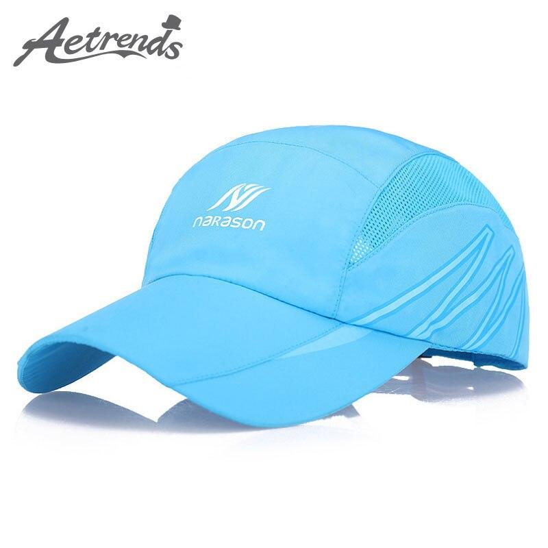 [AETRENDS] NEW 2017 Solid Color Mesh Baseball Cap Men Women Summer Hat Snapback Hat Trucker Caps Z-5107 fashion solid color baseball cap for men and women