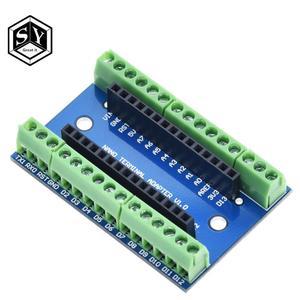 1PCS NANO V3.0 3.0 Controller Terminal Adapter Expansion Board NANO IO Shield Simple Extension Plate For Arduino AVR ATMEGA328P(China)