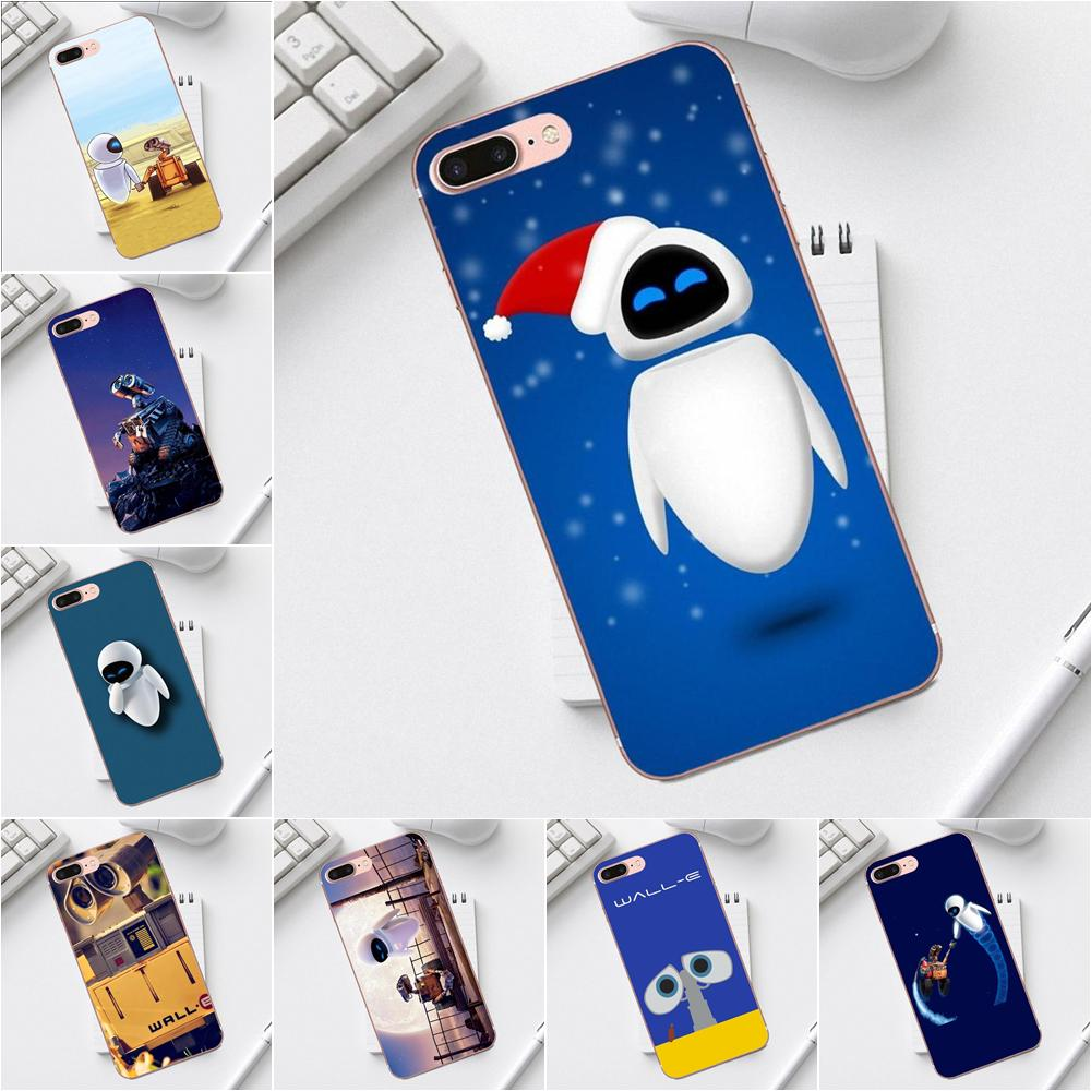 TPU Protector Phone Cases For Galaxy Alpha Core Prime Note 4 5 8 S3 S4 S5 S6 S7 S8 S9 mini edge Plus Buy Cool Wall-e Robot image