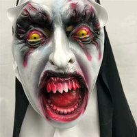 The Conjuring 2 Nun mask Halloween Scary Shocked Female Grimace Head Tricky Party Supplies Cosplay BOOCRE