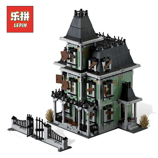 New LEPIN 16007 2141Pcs Monster fighter The haunted house Model set Building Kits Model Compatible With 10228 the haunted