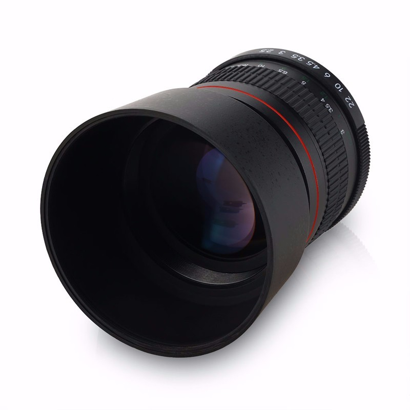 85mm F/1.8 Medium Telephoto Portrait Prime Manual Focus Camera Lens for Canon 10D 760D 700D 600D 70D 60D 7D 6D 5D II III DSLR 4