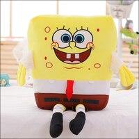 1pc 50cm Sponge Bob Baby Spongebob Plush Toy Soft Anime Cosplay Doll For Kids Toys Cartoon