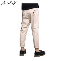 ActhInK Boys New Solid Cotton Formal Long Pants Kids Spring Outdoors Casual Trousers For Girls Korean