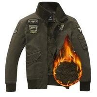 Men Jacket Winter Military Army Bomber Jackets With Velvet Plus Size 4XL Coat Mens Denim Jacket