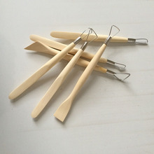 GTCT-0041 Double Head  Wood Polymer Clay Tools Sculpting Ceramic Pottery Tools for Beginners Scraper