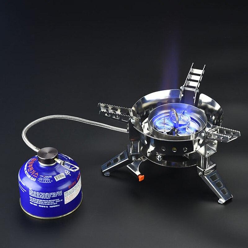 BULin BL100-B17 réchaud à gaz fendu pliable Portable pique-nique 6800 W réchauds à gaz coupe-vent cuisson barbecue Camping réchauds à gaz d'extérieur - 2