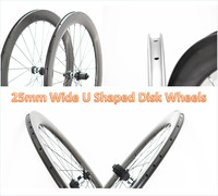 Cyclocross width 25mm 700C oem sticker full carbon fiber road bike clincher wheels Disc Brake carbon wheelset hookless rims