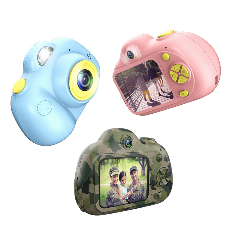2.0inch HD 1080P Mini Kids Camera Children Front and Back Dual Lens Digital Video Camera Face Recognition Camara Fotografica Cam-in Point & Shoot Cameras from Consumer Electronics
