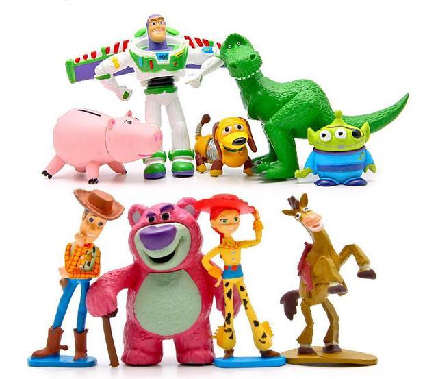 c36da5204293f Toy Story 3 colección completa Sheriff Woody Buzz Lightyear Jessie Hamm Rex  perro Slinky Mr Potato
