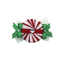 купить 10pcs Sacarla 4.5 inch Christmas dot Grosgrain Ribbon hair clip Hair Bows hairpin Girls Christmas Best Gift Alligator Clip онлайн