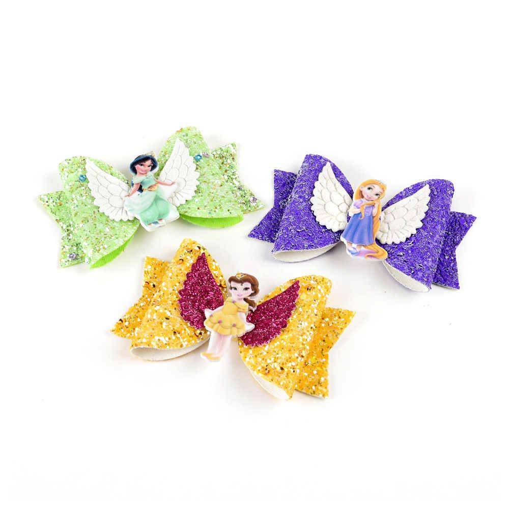 Prinses Haarspelden Glitter Haarelastiekjes Met Clip Dance Party Boog Haar Clip Meisjes Haar Accessoires