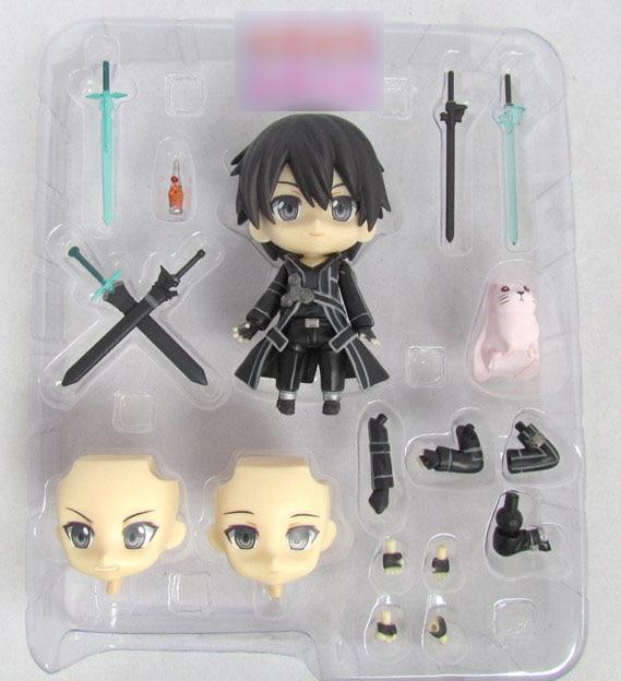 Nendoroid Sword Art Online SAO Figma 295 Kirito Kazuto Anime Cute Figure 4 Kids Toys brinquedos