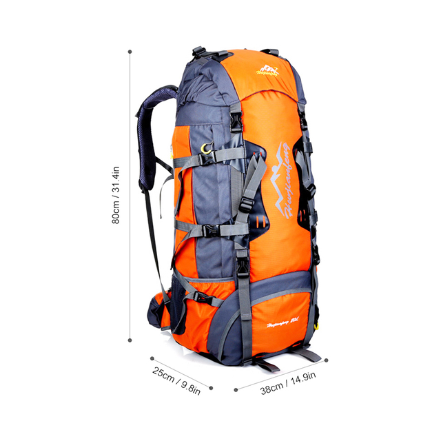 80L Large Outdoor Climbing backpack Camping Travel Bag Unisex Rucksacks Waterproof Hiking Backpack Camping Mountaineering Bag