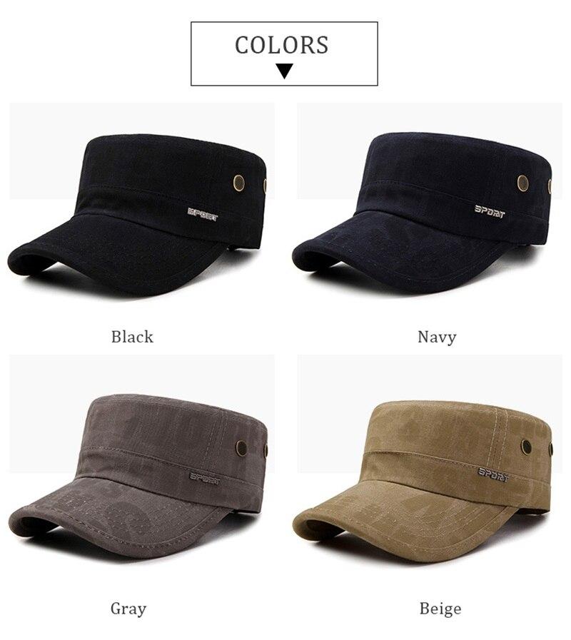 Su comercio tiene que asegurarse sobre que antes de cohechar un Wuaumx 2018  nueva militar sombreros para hombres mujeres algodón gorra militar verano  ... d1515e936bc