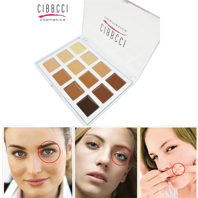 CIBBCCI New Professional 12 Colors Foundation Concealer Palette Face Cream Care Makeup Base Highlight Corrective  Cosmetics