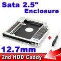 """10pcs SATA to SATA 12.7mm 2nd HDD Caddy for Notebook 2.5"""" SSD Hard Disk Driver External SATA3.0 Case Enclosure Optical Bay"""