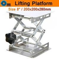 Lifting Platform Hand Adjustable Laboratory Lift Stainless Steel Lab Plat Stand Table Scissor Lifter Rack Mini