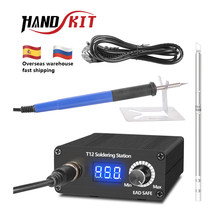 Handskit T12 Soldering Station Infrared Soldering Station Portable Bga Rework Station With Soldering Tips Welding Tools(China)