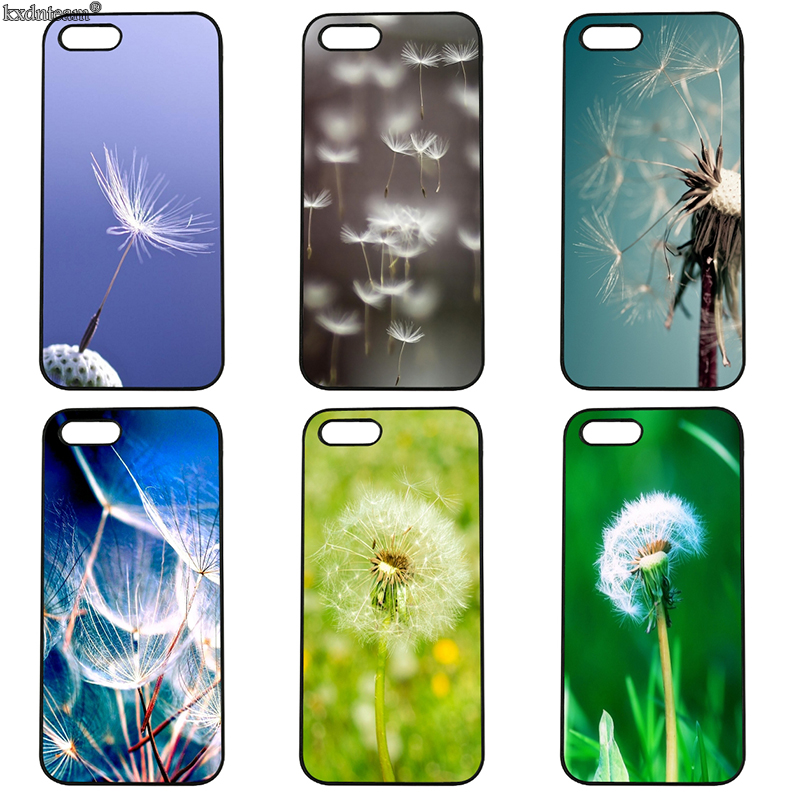 Beautiful Flower Dandelion Mobile Phone Case Hard Cover Fitted for iphone 8 7 6 6S Plus X 5S 5C 5 SE 4 4S iPod Touch 4 5 6 Shell