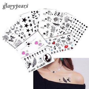 2019 New 1 Sheet Heart Infinity Gift Tattoo Temporary Waterproof Body Henna Hand Neck Ear Art Tattoo Sticker for Women Men Party