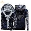 Game Of Thrones House Stark Fashion Hoodies Mens Jackets 2017 Winter Warm Fleece High Quality Sweatshirts
