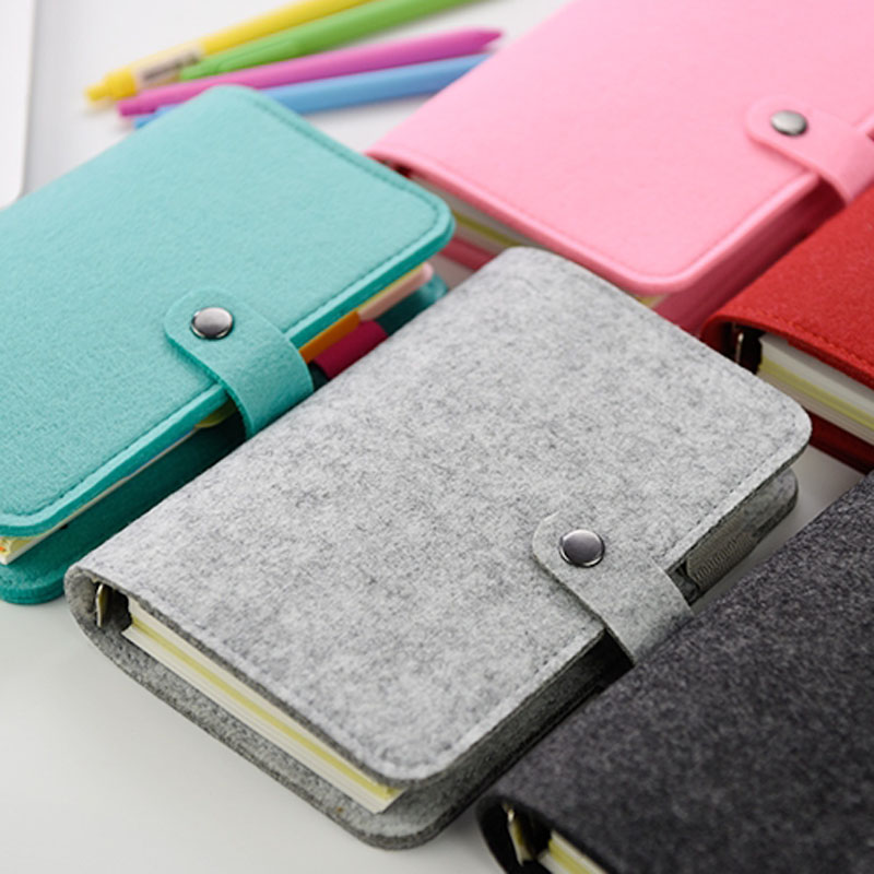 New Vintage Loose Leaf Refillable Wool Felt Spiral Weekly Planner Notebook Filofax Memo Travel Journal Diary Notepad A5a6 sosw fashion anime theme death note cosplay notebook new school large writing journal 20 5cm 14 5cm