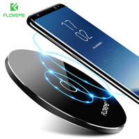 FLOVEME Qi Wireless Charger 10W For IPhone 8 Plus X Quick Charging Wireless Charger For Samsung