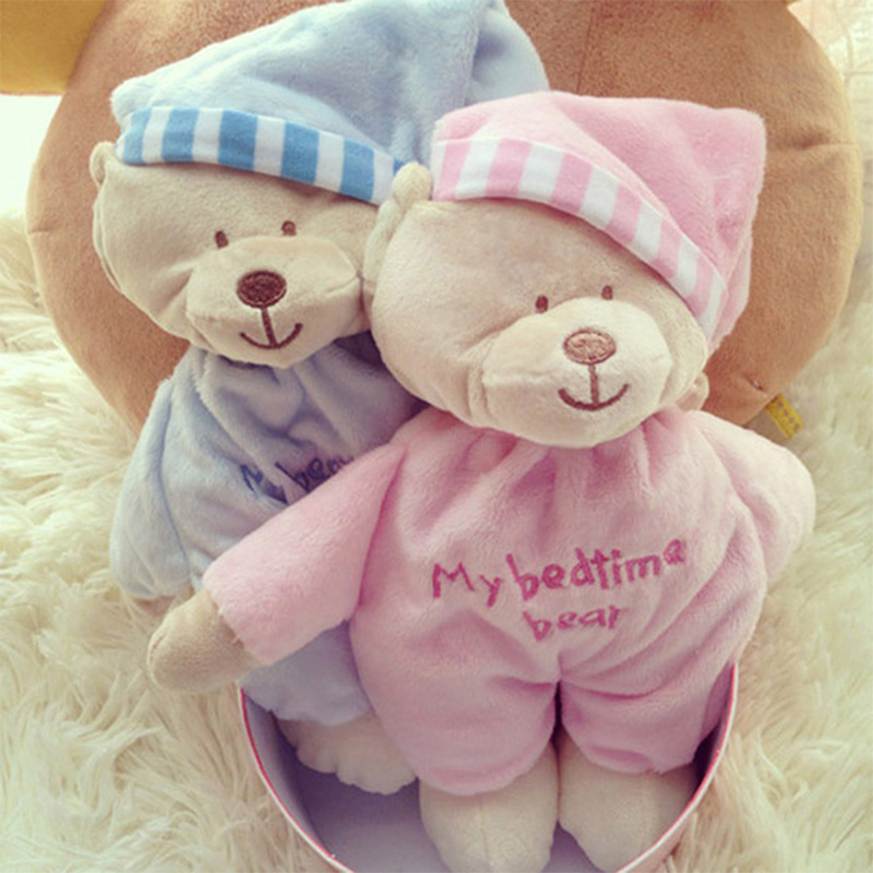 все цены на 2018 Baby Toys Animal Bear Baby Plush Bear Toy Soft Gift For Baby Child Newborn Product Boy Girl For Children Toys For Newborns