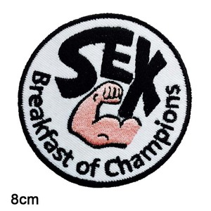 Sex Breakfast Of Champions James Hunt Iron On Embroidered Clothes Patches For Clothing Stickers Garment Apparel Accessories(China)