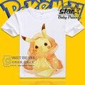 Pokemon Pikachu T Shirt T-shirt do Miúdo de Manga Curta Camisetas de Algodão Tops O Pescoço camiseta Meninos Meninas Crianças Roupas de Verão