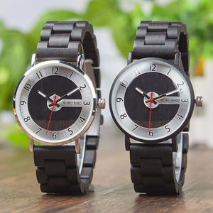 Image 2 - Bobo pássaro relógios de madeira dos homens relógios moda pulseira de madeira relógio de quartzo presentes ideais artigos com * q23 transporte da gota