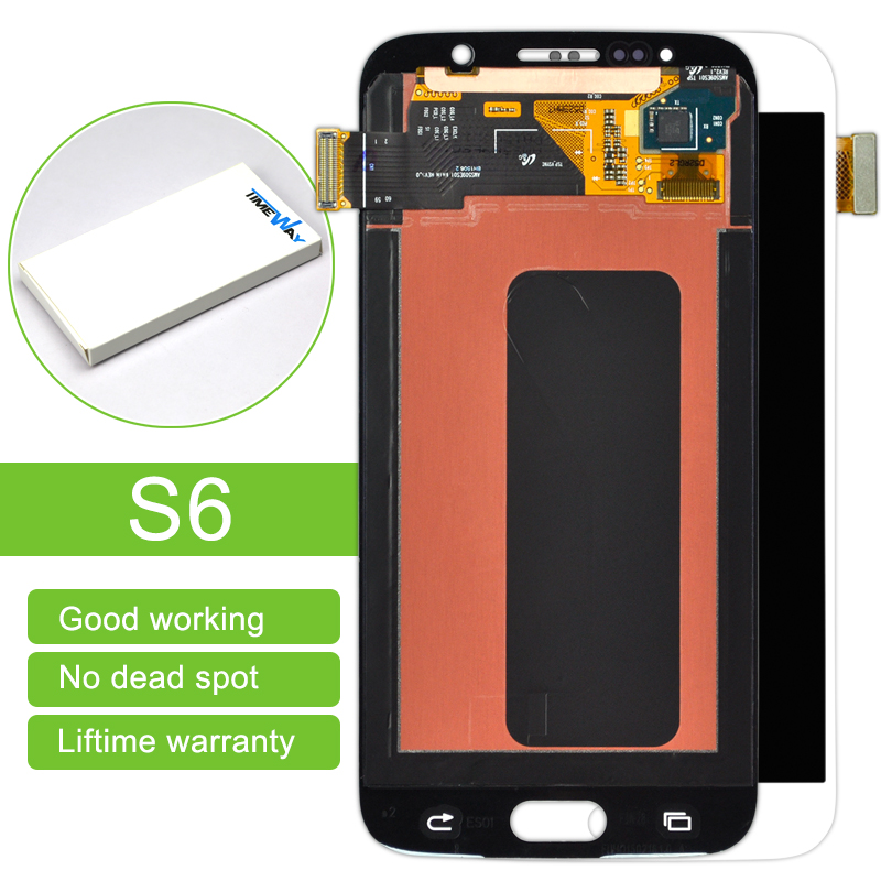 Alibaba China highscreen 2Pcs/lot Brand New Original Lcd Display Touch Screen Digitizer Assembly For Samsung S6 G9200 White/blue brand new original for 2 2 inch ls022q8ud04 display