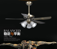 LED ceiling fans lamp Simple retro living room ceiling fans light 110 220V 3 light Free shipping