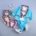 Новые детская одежда весна осень дети костюм-тройку детей набор детской одежды мальчиков и девочек комплектов одежды 1-4 лет