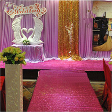 10 meter 100cm width Wedding Glitter Sparkle Carpet Favor Valentine Party Felt Back Rug Aisle Runner 0.65mm thickness
